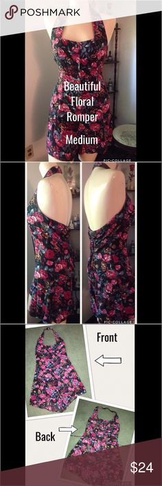 💥SALE💥❤️Beautiful Vintage Floral Romper This Bonnie Evans Romper is in excellent used condition. Very figure flattering, elastic around top of back, and the lace up feature in back allow for flexibility and give in size and comfort! 100% rayon. Love this! Unfortunately I had to come to the realization, I'll probably never be able to get back in it! Pants Jumpsuits & Rompers