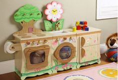 This collection of hand-painted furniture makes it easy to upgrade tots' play areas. Mini dining sets are perfect for impromptu tea parties, embellished chests and bookcases come in handy when its time to clean up, and lamps adorned with trucks and sea creatures keep kids smiling.http://www.wayfair.com/daily-sales/Playroom-Furniture-by-Teamson~E15230.html?refid=SBP.rBAZEVNVWcwYhSRdP2-6ApUkY5ySmErCvdKKm2pl0qI