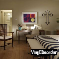 Cross Wall Decal - Vinyl Decal - Car Decal - DC029