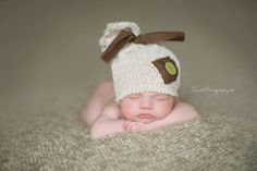 Upcycled Newborn Hat/ Baby hat / photo prop / by CraftCouture44, $14.00