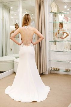"""""""Teresa"""" gown by Hayley Paige / I Asked My Fiancé, Mom and Bridesmaid to Choose Their Dream Wedding Dress for Me London Blog, Dream Wedding Dresses, Wedding Bridesmaids, Dream Dress, Fashion Beauty, Hayley Paige, Gowns, Mom, Mirror Mirror"""