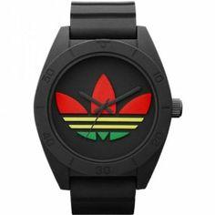 Adidas ADH2789 XL SANTIAGO Rasta Watch adidas. $100.00. Black Rubber Strap. Strap Buckle. Resin Case. MultiColour Dial