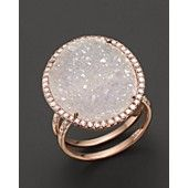 Meira T 14K Rose Gold Druzy Ring with Diamonds $1750 http://www1.bloomingdales.com/shop/product/meira-t-14k-rose-gold-druzy-ring-with-diamonds?ID=833073&CategoryID=1003803#fn%3Dspp%3D49