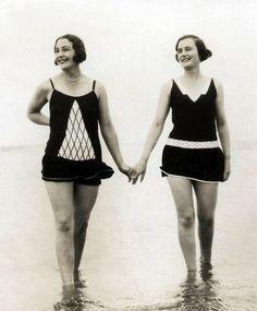1928 hand in hand beach bathing ...