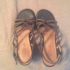 dfbf6c8d9 Clarks Sandals Women s Clarks sandals. Heel measures about 3