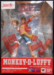 バンダイ/フィギュアーツZERO/ワンピース モンキーDルフィ 5th Anniversary Edition 未開封/箱イタミ小