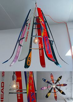 SKI-CHANDELIER by Willem Heeffer Could do the same with hockey sticks