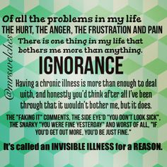 Ignorance... Chronic Migraines