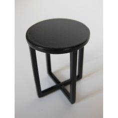 X Side Table in Black
