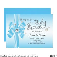Vintage floral birthday party invitation party invitations blue baby shower elegant demand bow invitation baby shower elegant demand bow invitation fun stopboris Choice Image
