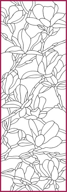 Stained glass pattern magnolia