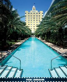 The National Hotel swimming pool Miami - it was fantastic!