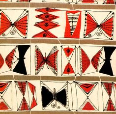 I wish I could get myself to Designing Women: Post-war British textiles at  the Fashion and Textile Museum, London, featuring the work of Lucienne Day  (1917–2010), Jacqueline Groag (1903–86) and Marian Mahler (1911– 83). Day  wanted to be a painter, but decided that expressing her designs in a f