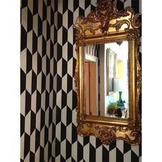 Papier peint - Cole and Son - Tile - White and Black