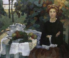 Leo Putz - Im herbstilichen Garten, 1908