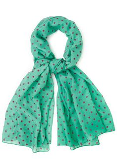 Dots to Discuss Scarf in Mint. Your weekly coffee date with your BFF is the favorite thing on your social calendar! #mint #modcloth