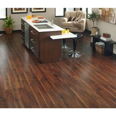 Home Decorators Collection Black Walnut 1/2 in. x 5.12 in. x Random Length Tongue and Groove Printed Strand Bamboo Flooring (26.02 sq. ft. / case)-STRPRT-WAL - The Home Depot