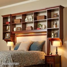 Nightstands are just not big enough for everything: lamp, alarm clock, phone…