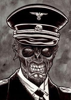 Zombie Nazi by Rob Sacchetto of Zombie Daily