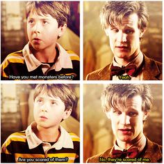 So scared you turned out to be the most feared creature in the universe, stuck inside the pandorica.
