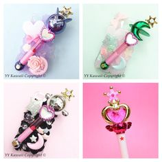 Sailor moon rod decoden phonecase for iphones samsung by YYKawaii on ETSY.