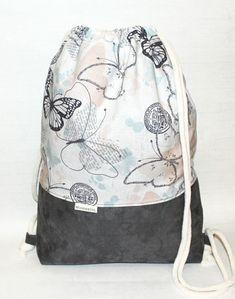 Turnbeutel - WunderStil - Taschen, Turnbeutel & Accessoires Fashion Bags, Drawstring Backpack, Backpacks, Sewing, Brazil, Dj, Pattern, Couture, Shopping