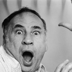 """Filmmaker Mel Brooks will sink his hands and feet into cement in the forecourt of the TCL Chinese Theatre in Hollywood today, one day before the Blu-ray release of """"Young Frankenstein,"""" which he calls his favorite film. Filmmaking Quotes, Sid Caesar, Young Frankenstein, John Legend, Interesting Faces, Film Director, Screenwriting, Man Humor, Famous Faces"""