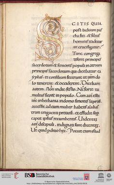 München, Bayerische Staatsbibliothek, Clm 23630, fol 11v Evangelistarium — wohl Lorsch, 1. Hälfte oder Mitte 11. Jh.