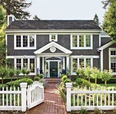 Old Colonial with gray shingles