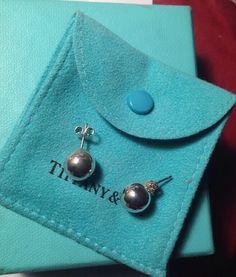 Tiffany Co Sterling Silver 10 mm Ball Round Earrings Studs w Gift Box Bag | eBay