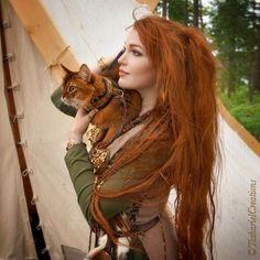 девушка,викинги,рыжая