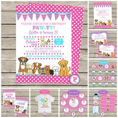 f8a49410eb HUGE Party Printables Set Adopt A Pet Paw-ty Puppy Birthday Puppy Birthday  Parties,