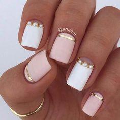43 Pretty Nail Art Designs for Short Acrylic Nails # Acrylic Nail .- 43 Pretty nail art designs for short acrylic nails - White Acrylic Nails, Pink Nail Art, Matte Nails, Acrylic Art, Pink Art, Stiletto Nails, Pretty Nail Designs, Pretty Nail Art, Nail Art Designs