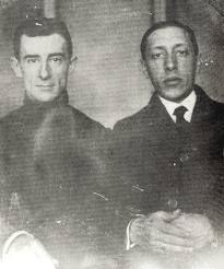 Maurice Ravel with Igor Stravinsky.