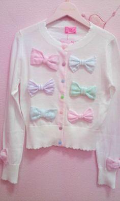pastel bow sweater ♡゙ Harajuku Fashion, Kawaii Fashion, Lolita Fashion, Cute Fashion, Asian Fashion, Diy Fashion, Visual Kei, Melanie Martinez Style, Pastel Fashion