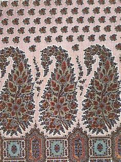An extraordinary exotic pattern know as Paisley is called after a Scottish town once famed for its textiles, The original motif, derived fro. Paisley Design, Paisley Pattern, Paisley Print, Textile Design, Fabric Design, Pattern Design, Art Nouveau, Indian Quilt, Vintage Textiles
