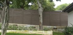 Fence at building wall design idea