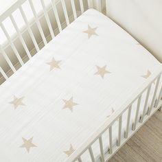 super star scout - fawn star classic crib sheets   aden + anais USA
