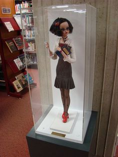 Librarian 'doll' at the Dunedin Public Library. It's about time librarians were depicted as modern women