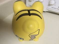 Your place to buy and sell all things handmade Pikachu, Pokemon, Pottery Painting, Ceramic Painting, Large Piggy Bank, Personalized Piggy Bank, I Shop, My Etsy Shop, Martha Stewart Crafts