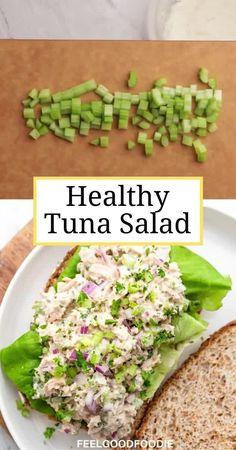 Healthy Tuna Recipes, Healthy Tuna Salad, Healthy Meal Prep, Lunch Recipes, Healthy Snacks, Dinner Recipes, Healthy Eating, Cooking Recipes, Chicken Recipes