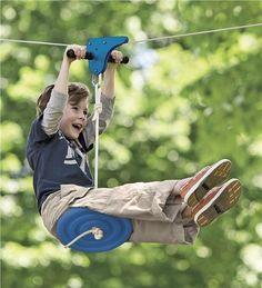 Order for Christmas for L's treehouse. Kids Zipline 70-Feet Long With Seat Kit