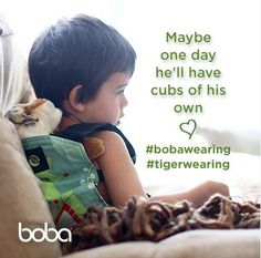 {oh my word, this is cute!} Oh, the many joys of keeping your cubs close! They'll like to keep theirs close, too. Boba Baby Carrier, Baby Wrap Carrier, Autism Sensory, Maybe One Day, Stylish Baby, Babywearing, Baby Wraps, Adhd, Cubs