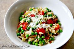 Orzo with Peas, Tomatoes and Bacon Recipe