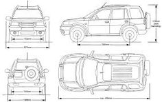 Land Rover Defender Interior Dimensions-blueprint with
