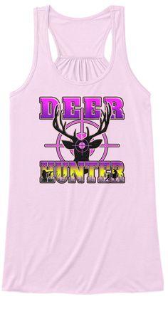 Deer Hunter   Hunting Bullseye T Shirt  Soft Pink Women's Tank Top Front