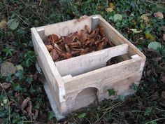 Hedgehog house with bedding