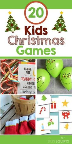 20 fun and easy Christmas games for kids Christmas and kids. It's like peanut butter and jelly. So, let's make this holiday season one to remember with these fun and easy Christmas games for kids. Christmas Party Games For Kids, School Christmas Party, Xmas Games, Kids Party Games, Christmas Crafts For Kids, Simple Christmas, Fun Games, Preschool Christmas Games, Christmas Christmas