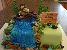 The Cake Cottage: Rafting Birthday Cake
