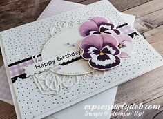 Stampin Pretty, Stampin Up, Pansies, Tulips, Everything's Rosie, Homemade Birthday Cards, Stamping Up Cards, Flower Cards, Paper Crafting